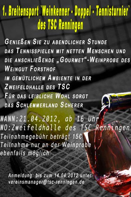 Weinkenner Tunier - 2012
