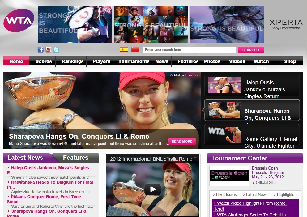 WTA-Turnierkalender