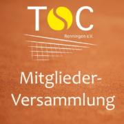 TSC Renningen Mitglieder Versammlung